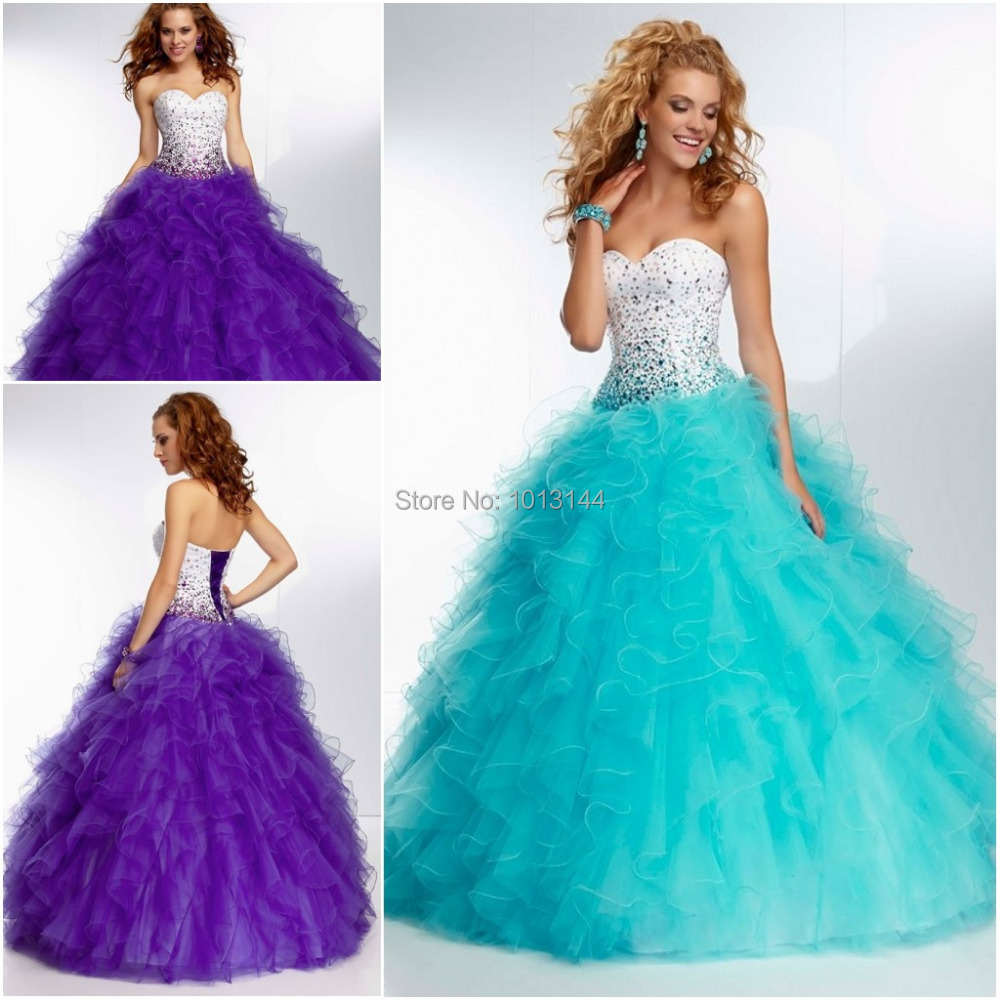 Beautiful Sparkle Beaded Sweetheart Bodice Corset Purple Red Tulle ...
