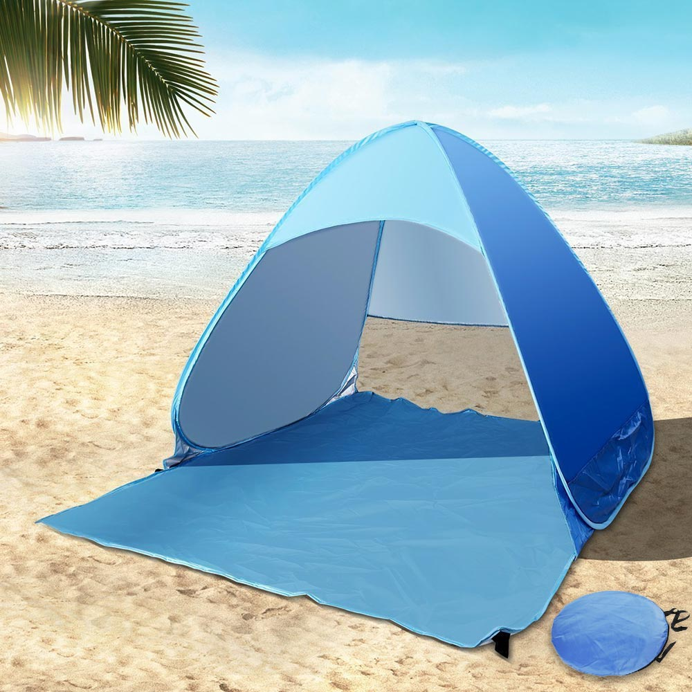 2 Person Beach Tent Automatic Pop Up With UV Proof Ultralight Folding Sun  Tents For Outdoor Camping Garden Pink Camouflage