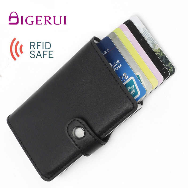 DIGERUI RFID SAFE Foreign Trade Automatic Wallet Aluminum Alloy Card Case Anti-Degaussing Anti-Theft RFID Aluminum Bank Credit