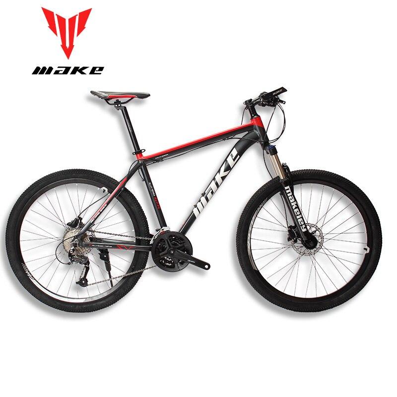 MAKE Mountain Bike Aluminum Frame SHIMAN0 AItus 27 Speed 26 27,5 Wheel Hydraulic/Mechanical Brake MTB