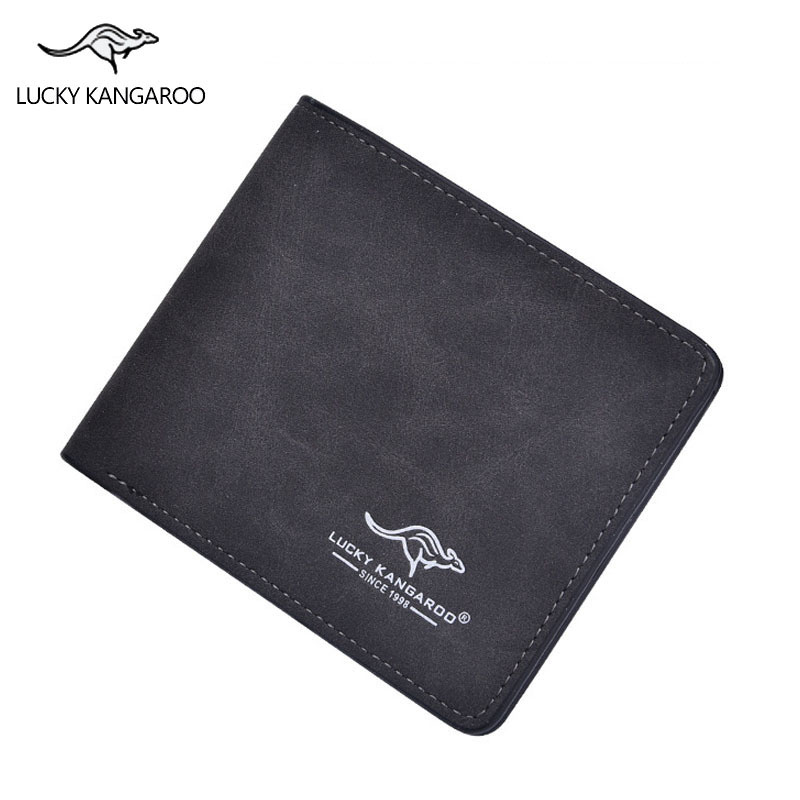 New brand kangaroo men's wallet quality guarantee designer's nubuck leather purse fashion casual card holder for male