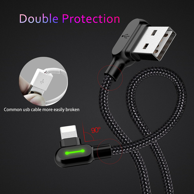 Fast Charging L Cable For iPhone (Right Angle Design)
