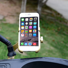Bicycle Phone Holder Bike Mount Mobile Handlebar Support Navigation Cycling Aluminium Alloy Bracket