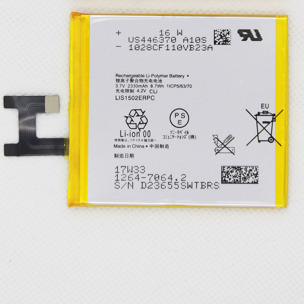 5pcs/lot 2330mAh LIS1502ERPC bateria <font><b>Z</b></font> <font><b>battery</b></font> For <font><b>Sony</b></font> <font><b>Xperia</b></font> <font><b>Z</b></font> L36h L36i <font><b>c6602</b></font> SO-02E C6603 S39H Phone <font><b>Battery</b></font> L36H image