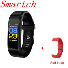 Smartch ID 115 PLUS Bluetooth Шагомер Смарт-браслет монитор сердечного ритма фитнес-браслет IP67 водонепроницаемый смарт-браслет