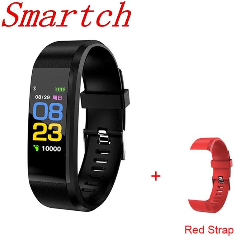 Smartch ID 115 PLUS Passometer Bluetooth Monitor de Freqüência Cardíaca Banda Inteligente Pulseira De Fitness IP67 Banda Inteligente À Prova D' Água