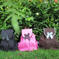 Wholesale Monogrammed Solid Quilted Children Bag Handcrafted Kids Backpack Purse With Free Personalization ZKD 105004