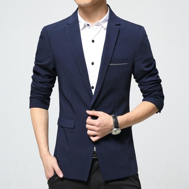 c606a405781aa 2018 New Arrivals Mens Smart Casual Blazers Suit Male Fashion Slim fit  Single button Cotton Jackets Korea Plus size 4XL 5XL 6XL