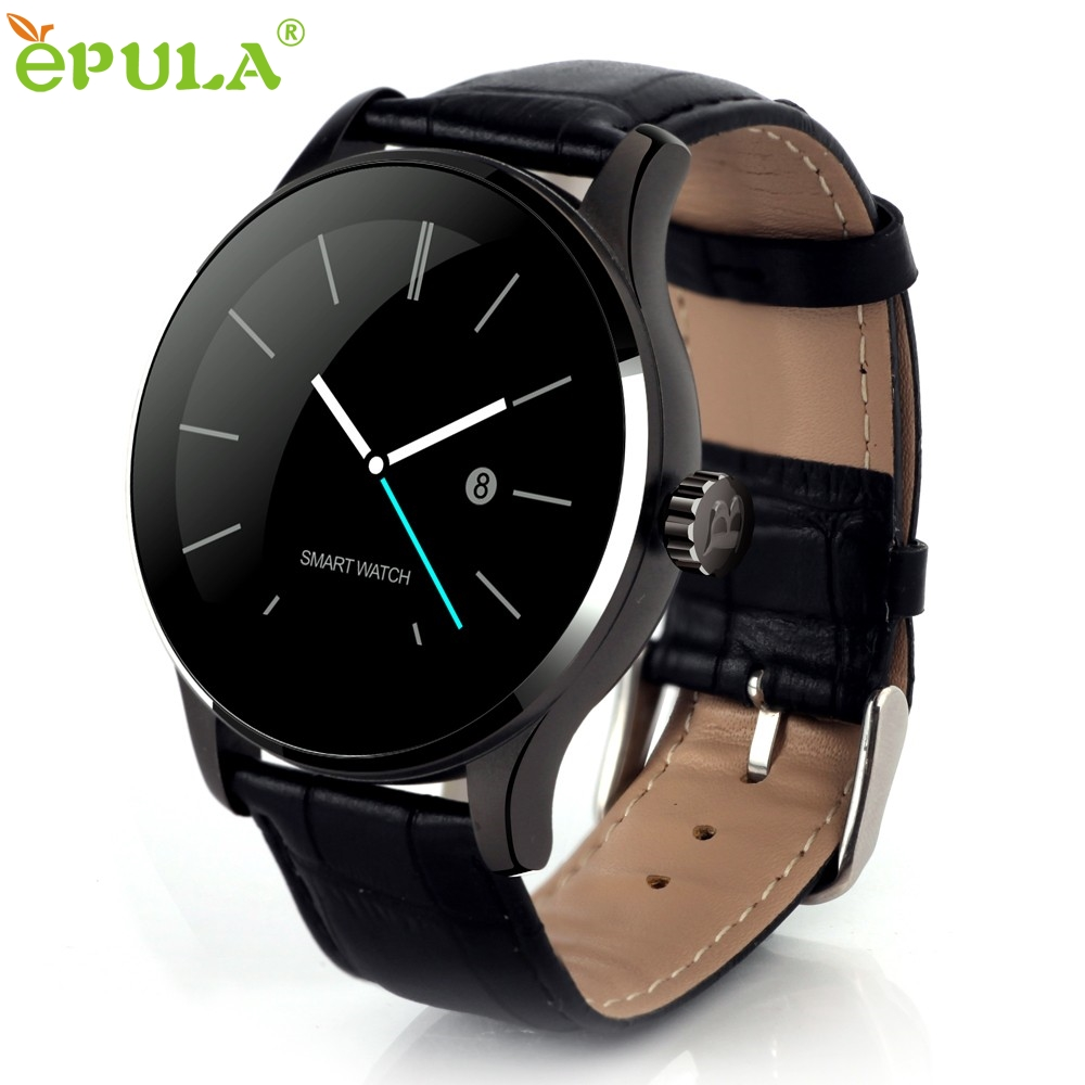 ФОТО Beautiful Gift New  K88H MTK2502C Bluetooth Smart Watch Heart Rate Track Wristwatch Leather Wholesale price Aug23