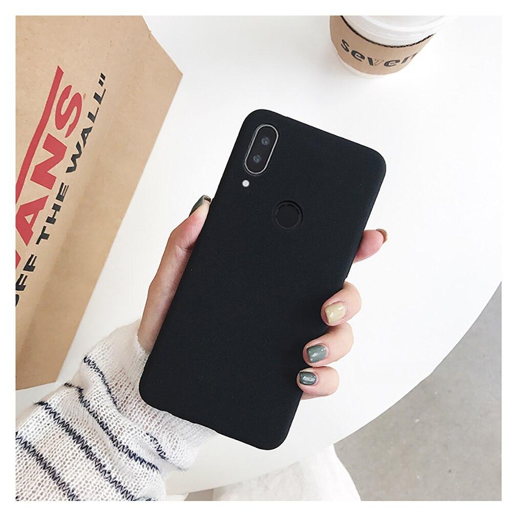 for LECAYEE Redmi Note 7 Matte Case Cover Redmi Note 5A Prime In Fitted Silicone Phone Case redmi 6 pro 6a 5 5a 4x s10 case (10)