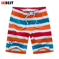 LKBEST 2017 New fashion Summer Striped Men's Beach Shorts Quick Dry Elastic Waist Men Board Shorts brand clothing N1508