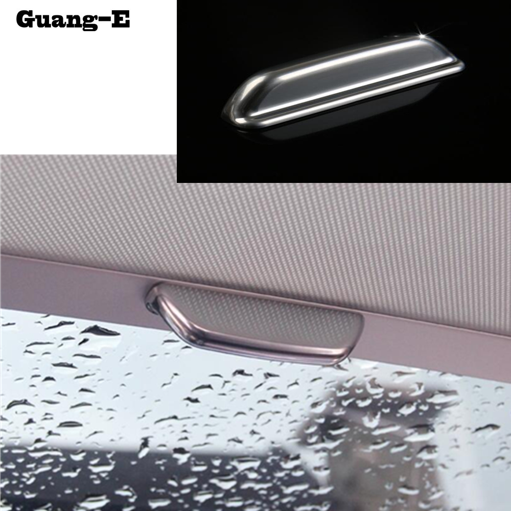 Car Door Inner Trims ABS Chrome Sunroof Skylight Roof Frame Lamp Panel Hoods For VW Golf7