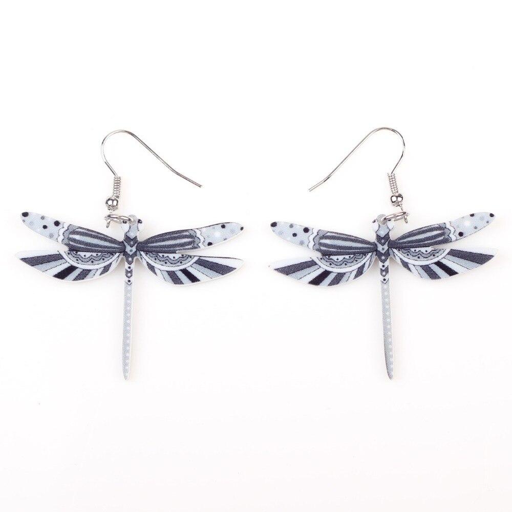 Muoti sormukset sudenkorento korvakorut akryyli pitkä pudota - Muotikorut - Valokuva 2