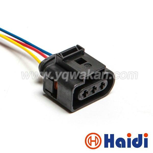 Livraison gratuite 1 set 3pin VW 3.5mm VW Vilebrequin capteur de position plug auto étanche fil harnais connecteur 1J0 973 723