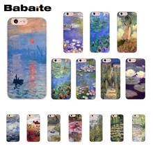 Babaite Claude Monet Garden Lotus Bridge Pattern TPU Soft Phone Case for iPhone 6S 6plus 7 7plus 8 8Plus X Xs MAX 5 5S XR 10(China)