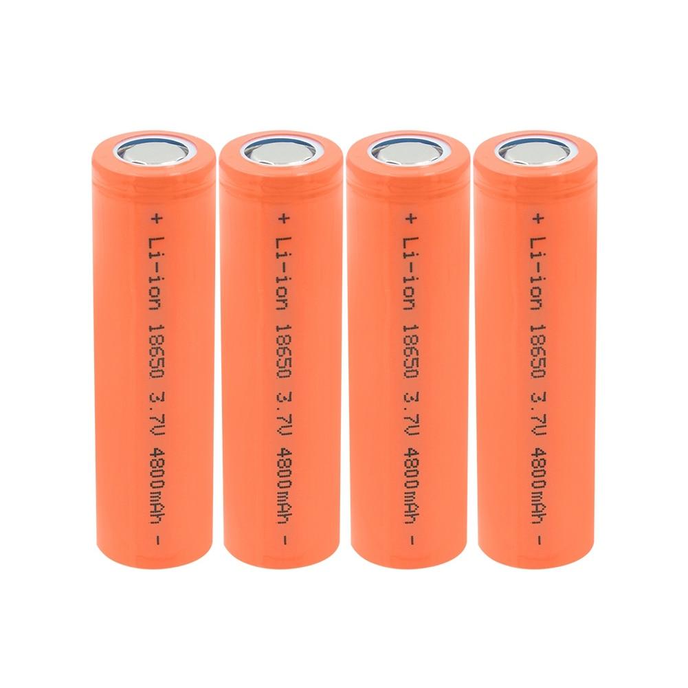 Литий-ионный аккумулятор 18650, 3,7 в, 4800 мАч, 18650, 1-10 шт.