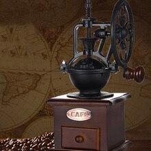 Vintage Stil Kahve Değirmeni Manuel Kahve Değirmeni El-krank Silindir Sürücü, Seramik Çapak Çekirdek, kayın Ahşap Durumda, Naylo...