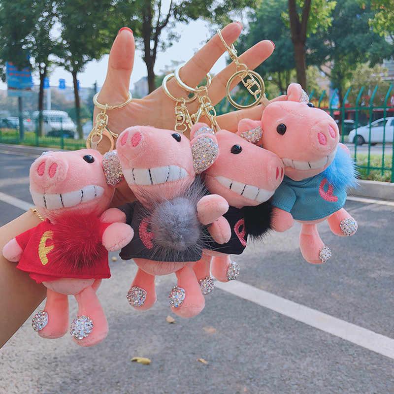 1 Pcs Prático cor Hit Da Moda Coreana Bonito Sino do Sino Grande anti-roubo de Carro Chaveiros Chaveiro Chaveiro Bolsa chave Anel de Brinquedo do Miúdo