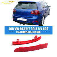 ABS Auto Car Rear Bumper Reflectors Stripe Light Lamp Left Right Red For Volkswagen VW Golf
