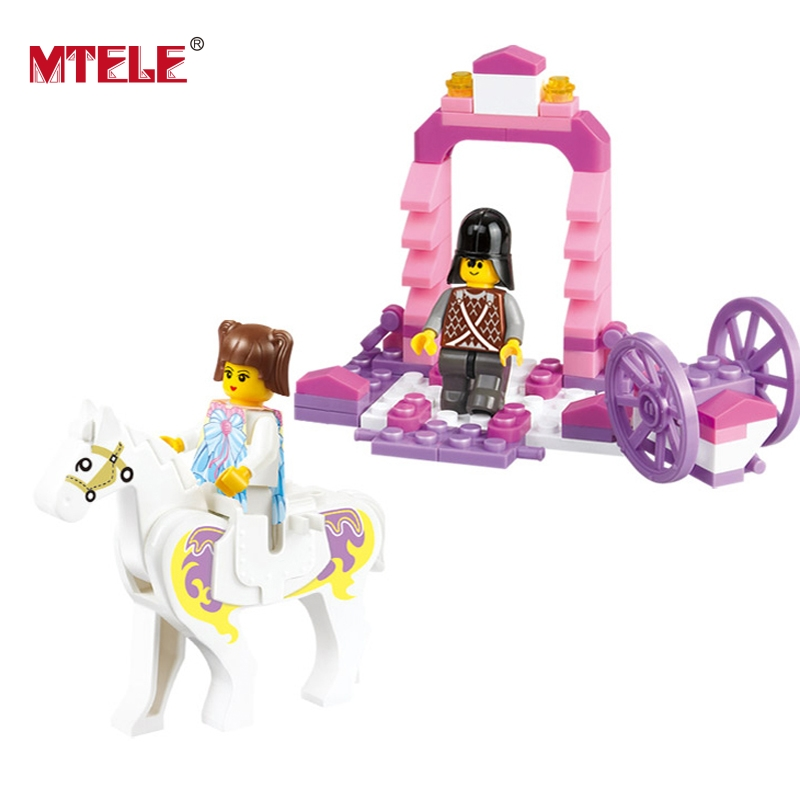 MTELE Brand New Princess Carriage Model Building Blocks Friends Series Figures Girls Toys Gift Compatible With lego spare parts charger for cheerson cx 20 rc quadcopter