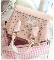 Princess sweet lolita bag new wing hollow college style Cherry Blossom Festival messenger shoulder bag ENSSO 067