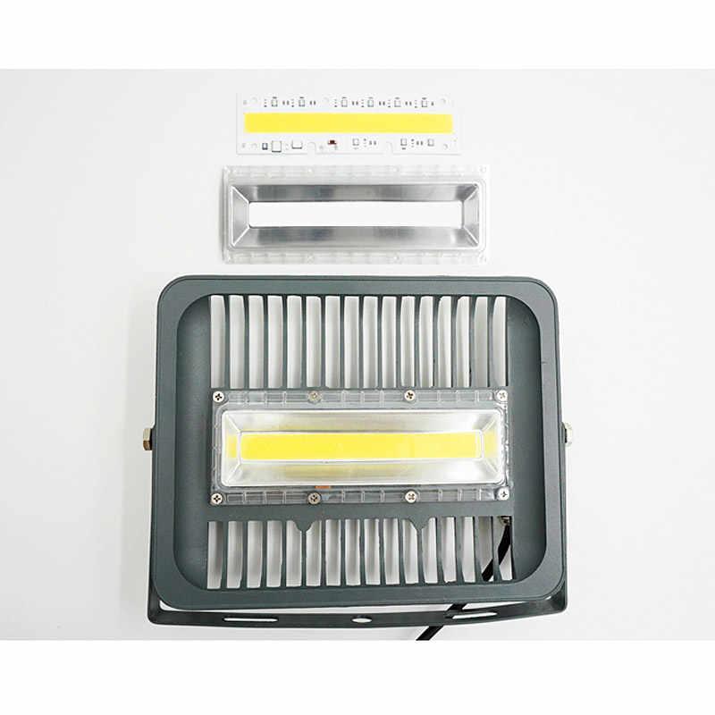 1 комплект COB светодиодный светильник шарик + рассеивателем 30 Вт 50 Вт 70 Вт 100 Вт 150 110 220 V включают в себя: линзу из поликарбоната + отражатель + Силиконовое кольцо DIY для прожектора