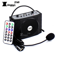 Loudspeaker With Headset Microphone Voice Amplifier Audio Booster Megaphone Portable Speaker USB MP3 Player Teaching Tour Guide