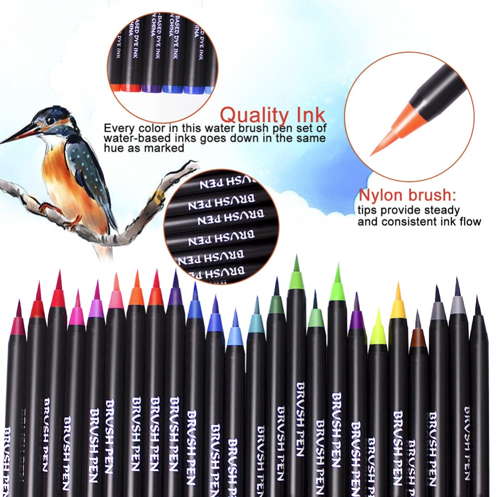 Image 4 - Watercolor markers Brush Pen in Art Marker Pens For Art Color Paint Markers for Painting Drawing Coloring Manga Calligraphy Pen-in Art Markers from Office & School Supplies