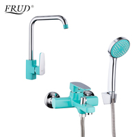 FRUD 1 Set Spray Paint Kitchen Sink Faucets Shower Faucets Hot And Cold Water Mixer Zinc