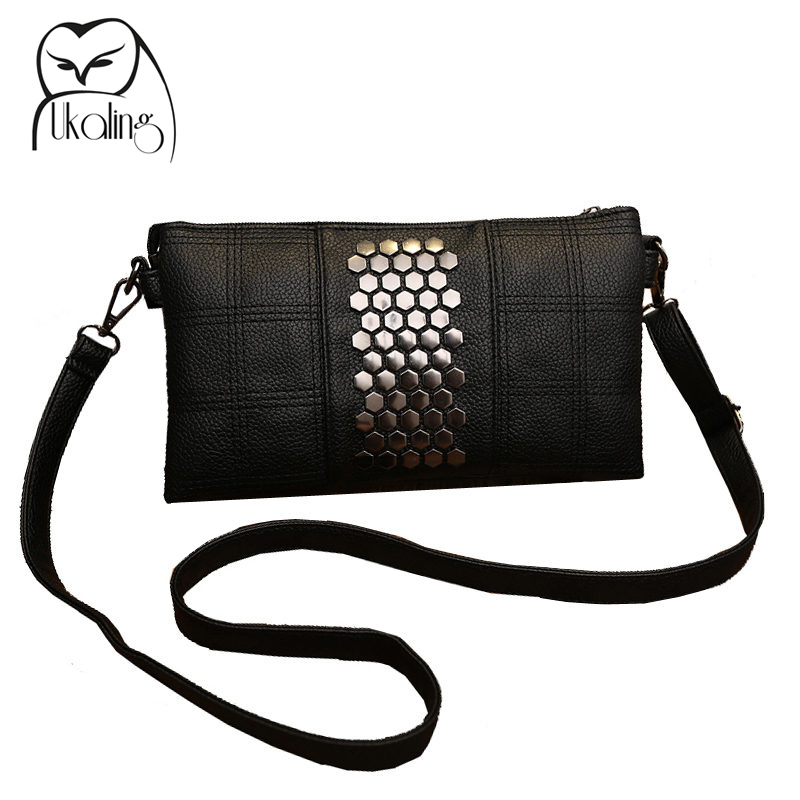 a1f91bb6c6db UKQLING Women s PU Leather Handbags Purse Shoulder Bags Messenger Bags Day  Clutch with Long Strap Rivet Handbags Designer