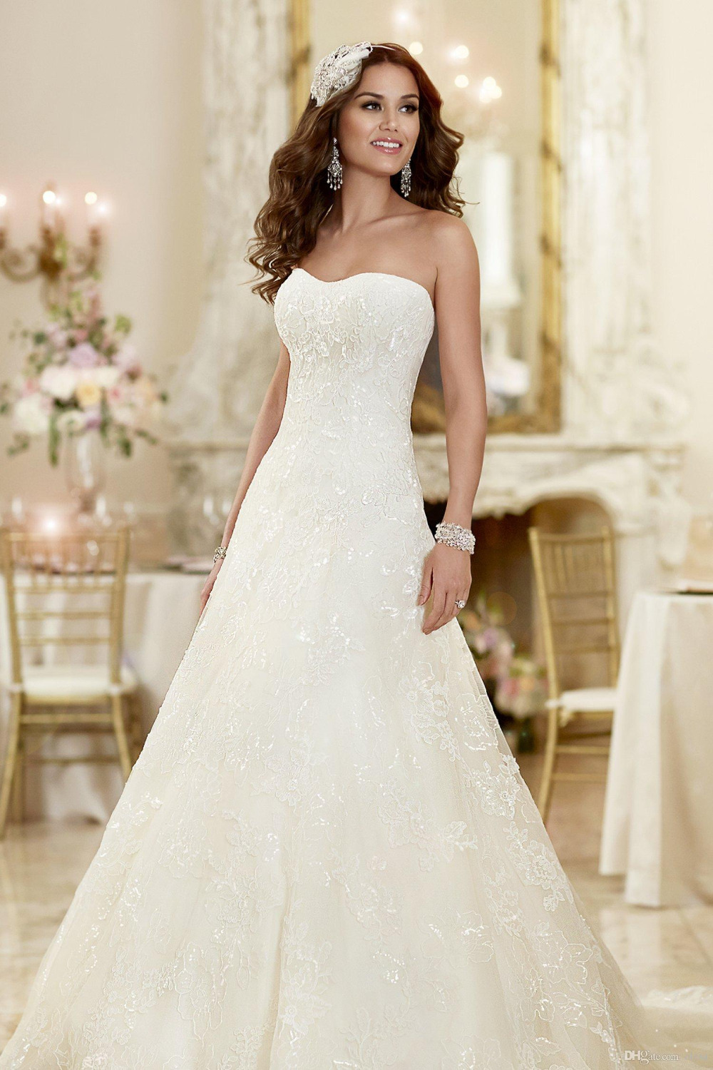 Online Get Cheap Simple Strapless Wedding Dresses -Aliexpress.com ...