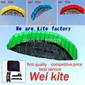 Alta calidad 2.5 m Dual Line Truco Parafoil Kite Poder kite suave diversos colores eligen wei kite factory envío gratis