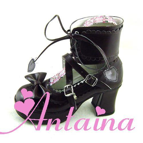 ФОТО Princess sweet lolita gothic lolita shoes custom  lolita cos punk bow with high-heeled dress shoes 2002 chromophous