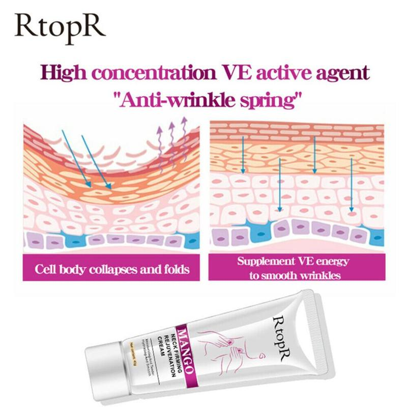 Rtopr Neck Firming Cream Anti-wrinkle Firming Skin Whitening Moisturizing Neck Serum Beauty Reduce Double Chin Neck Care 4