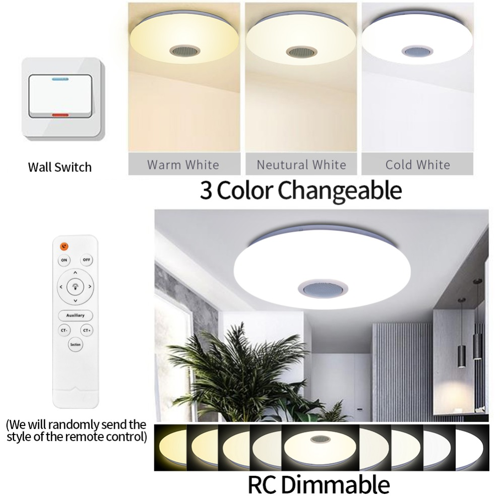Lamplab Led Ceiling Light Modern Lamp Living Room Lighting Fixture Bedroom Kitchen Surface Mount Flush Panel Remote Control Soft And Light Back To Search Resultslights & Lighting Ceiling Lights & Fans