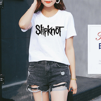 High Quality Mercerized Cotton Woman T Shirt Heavy Metal Music Slipknot T Shirt Tee Womens Letter