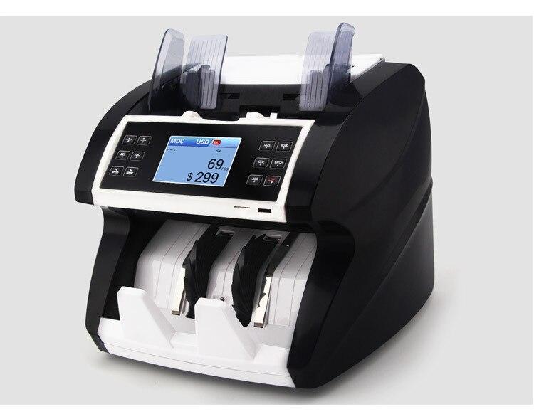 Compteur de billets d'argent multi-devises comptant automatique compteur de billets avec détecteur de contrefaçon UV MG MT IR