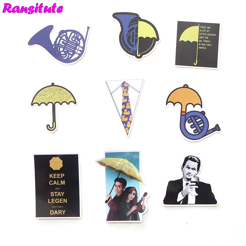 20pcs/set How I Met Your Mother Sticker Poster Waterproof Car Sticker DIY Skateboard Laptop Suitcase Decal