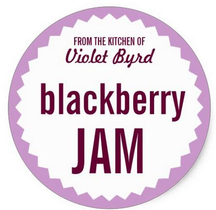 Inch Blackberry Jam Home Canning Label Template Classic Round - Round sticker template