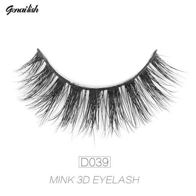 Genailish 3D Mink Eyelashes Fake Eyelashes Natural False ...