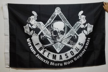 Masonic Mason Freedom Flag hot sell goods 3X5FT 150X90CM Banner brass metal holes MM2(China)