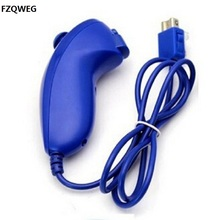 Nunchuck Video Game Pad Accessories Controller for Nintendo Wii Console Remote blue color   Contoured to perfectly fit a player'