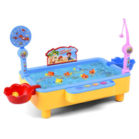 Magnetic Fishing Toy Set For Girl Children Electric power Rod Net Toys For Kids Magnet Fishing Model Play Fishing Games Gift