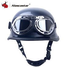 Zombies Racing Motorrad Helm Halbe Gesicht Vintage Retro Moto Helm Casco Casque Roller Helme Crash Helm Mit Brille DOT(China)