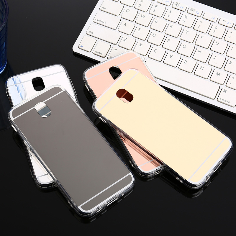 Luxury Mirror Effect Soft TPU Case For Samsung Galaxy J2 J3 J5 J7 Pro 2017 2018 Woman Makeup Silicone Back cover