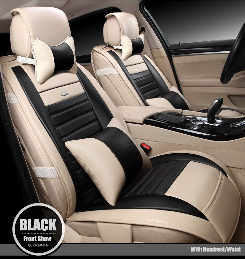 For audi A1 A3 A4 A6 A5 A8 Q1 Q3 Q5 Q7 New brand luxury soft pu Leather car seat cover Front&Rear full seat covers four seasons ouzhi brand black pu leather car seat cover front and back set for audi a1 a3 a4 a6 a5 a8 q1 q3 q5 qq7 car cushion covers