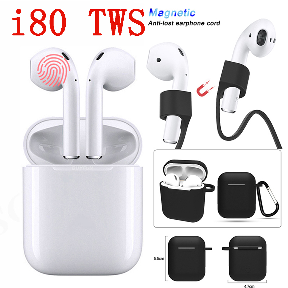 I80TW Original Earphone W1 Chip 1:1 Bluetooth Earbuds Wireless i80 TWS earphones Pop up pk i11 i20 i30 i60tws