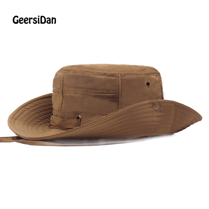 05287bd44e207 GEERSIDAN 2019 Summer Bucket Hat for men women Fashion big Wide Brim  fishing hats brand Casual