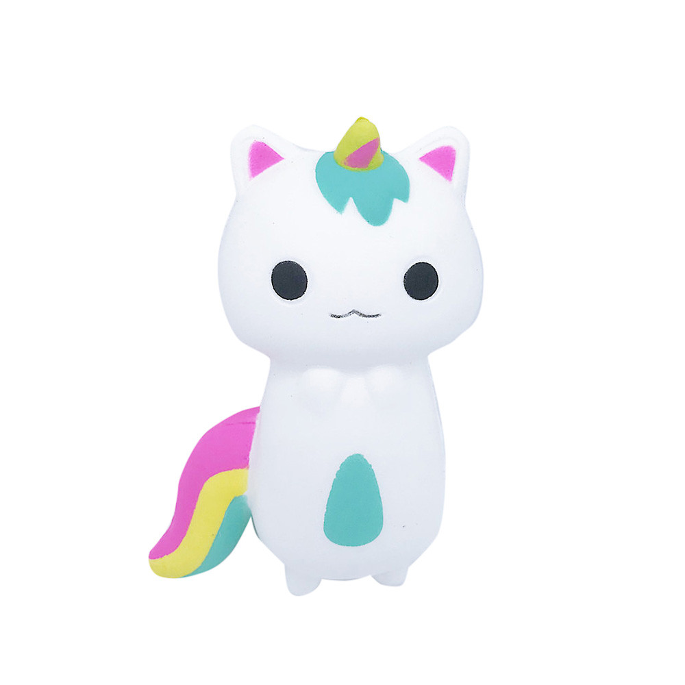 Squish Toy Rainbow Fox Stress Relief Toy Cream Scented Squishies Super Slow Rising Squeeze Toys Baby Novelty Gift A888 wholesale metal stress relief spinner toy hand finger gyro