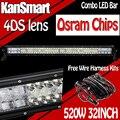 32 Pulgadas 520 W OsramChips Luces de Trabajo Led Light Bar Combo Externa barco 4WD SUV ATV Lámparas de Conducción Off-road del Coche Camión de Remolque lámpara